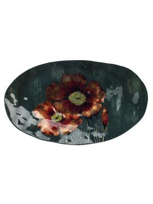 Блюдо  45*28,5*8 Elff Ceramics. Цвет: черный, красный, оранжевый