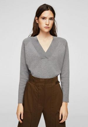 Пуловер Mango. Цвет: серый