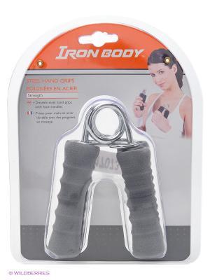 Эспандер кистевой Iron Body. Цвет: серый