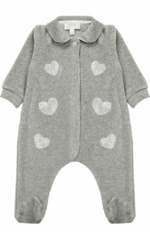 Хлопковая пижама с аппликациями Aletta. Цвет: серый
