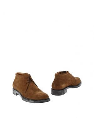 Полусапоги и высокие ботинки ANGELO NARDELLI. Цвет: хаки