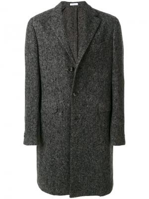 Однобортное пальто Boglioli. Цвет: серый