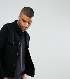 Rollas Черная джинсовая куртка. Цвет: черный