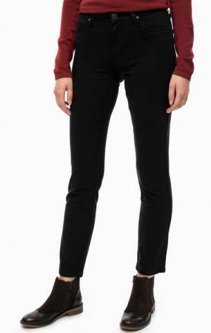 Черные зауженные брюки с карманами Lee. Цвет: черный