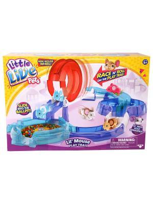 Игровой набор Little Live Pets с трассой для питомца, без мышки Moose. Цвет: голубой