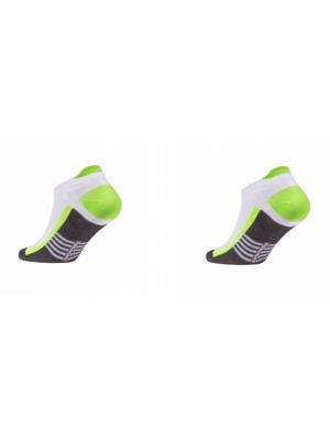 Носки ACTIVE 16С-72СП, 2 пары DiWaRi. Цвет: салатовый, темно-серый