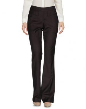 Повседневные брюки MARIAGRAZIA PANIZZI. Цвет: темно-коричневый