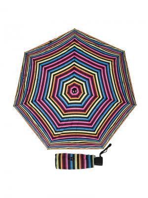 Зонт складной GDJ 2002-OC Eclair Noir/Viola Guy De Jean. Цвет: черный, желтый, фиолетовый