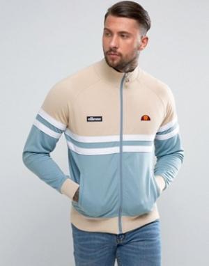 Ellesse Спортивная куртка в стиле колор блок. Цвет: светло-серый