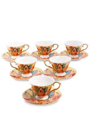 Чайный н-р на 6 перс Дольче Вита  (Pavone) Pavone. Цвет: желтый