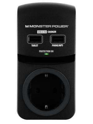 Сетевой фильтр Monster Core Power 100 USB (MP EXP 100U). Цвет: черный
