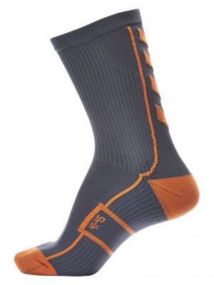 Носки TECH INDOOR SOCK LOW HUMMEL. Цвет: серо-голубой, оранжевый