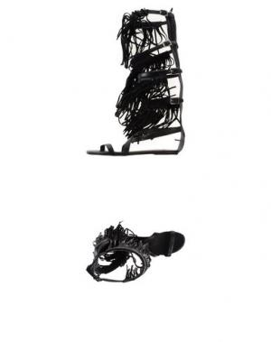 Сандалии FABRIZIO CHINI. Цвет: черный