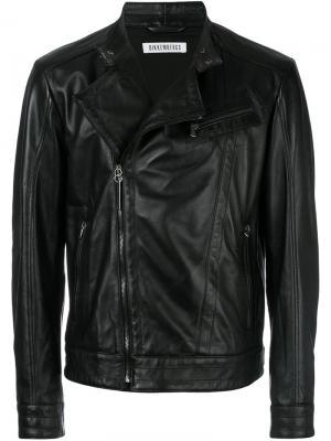 Байкерская куртка Dirk Bikkembergs. Цвет: чёрный