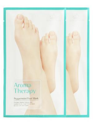 Увлажняющие носочки Aromatherapy peppermint х 2шт. Royal Skin. Цвет: зеленый