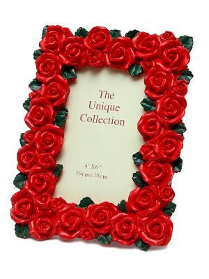 Фоторамка декоративная Красные розы Magic Home. Цвет: красный