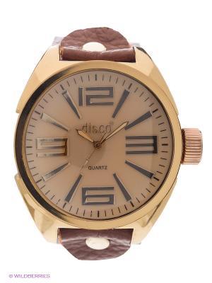 Часы Kawaii Factory. Цвет: темно-коричневый, бледно-розовый
