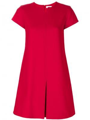 Платье с V-образным вырезом Courrèges. Цвет: красный