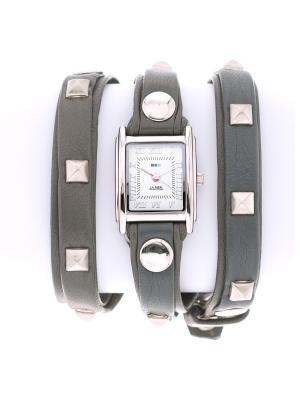Часы La Mer Collections Pyramid Stud Grey Silver. Цвет: серый