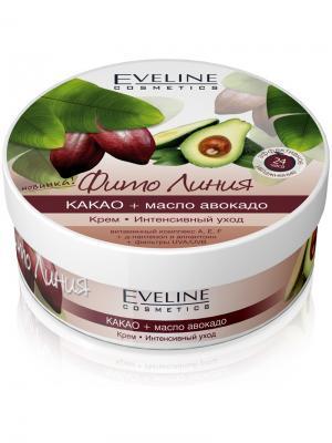 Крем Интенсивный уход серии Фито Линия: какао и масло авокадо, 210 мл EVELINE. Цвет: белый