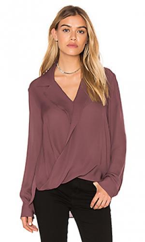 Драпированная блуза rita LAGENCE L'AGENCE. Цвет: сиреневый