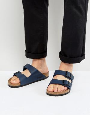 Birkenstock Синие сандалии. Цвет: темно-синий