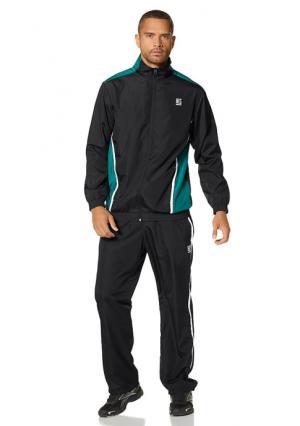 Спортивный костюм H.I.S.. Цвет: черный/зеленый