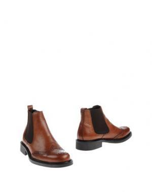 Полусапоги и высокие ботинки ZEN. Цвет: коричневый