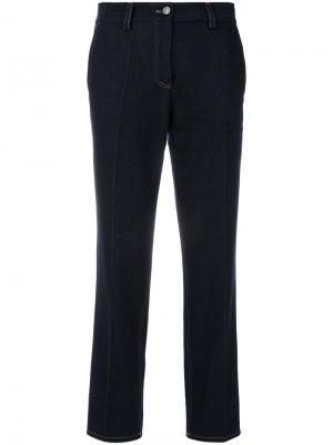 Прямые брюки Pringle Of Scotland. Цвет: синий