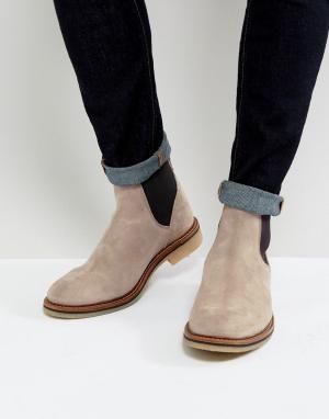 ASOS Серые замшевые ботинки челси. Цвет: серый