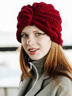 Чалма EMMY. Цвет: темно-бордовый