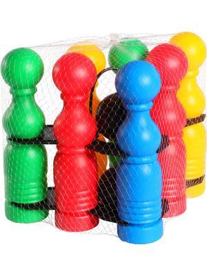 Игрушка развивающая Боулинг ТИГРЕС. Цвет: синий, зеленый, красный, желтый