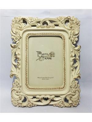 Фоторамка декоративная Узорная Magic Home. Цвет: бежевый