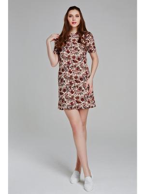 Платье CLABIN. Цвет: коричневый