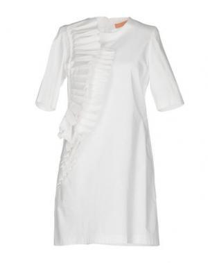 Короткое платье MACRÍ. Цвет: белый