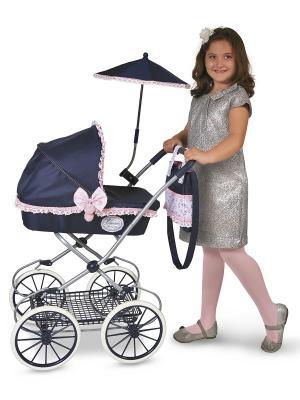 Коляска с сумкой и зонтиком, Романтик, 81см. DeCuevas. Цвет: синий, розовый