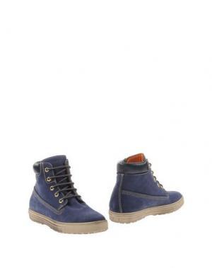 Полусапоги и высокие ботинки KEYS. Цвет: синий