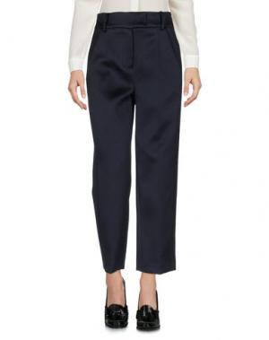 Повседневные брюки WEILI ZHENG. Цвет: темно-синий