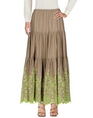 Длинная юбка MANUEL LUCIANO. Цвет: бежевый