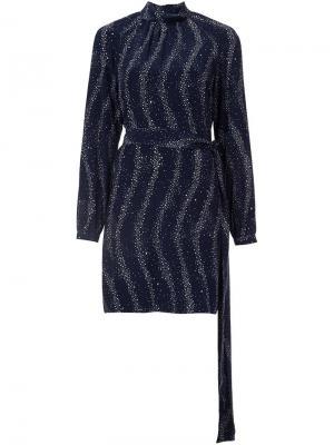 Платье-рубашка с поясом Vanessa Seward. Цвет: синий