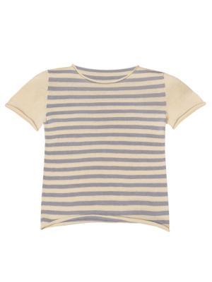 Вязаная футболка R&I. Цвет: светло-желтый