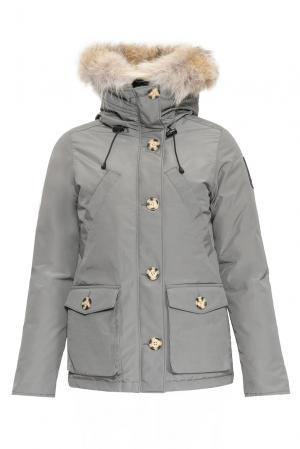Парка-пуховик с мехом койота 152305 Arctic Bay. Цвет: серый