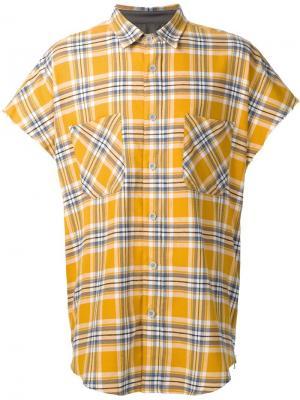 Фланелевая рубашка без рукавов Fear Of God. Цвет: жёлтый и оранжевый