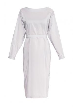Платье из хлопка с поясом 172320 Villa Turgenev. Цвет: фиолетовый