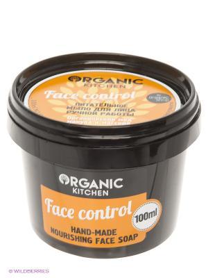 Мыло д/лица питат.ручной работы Face control100мл Organic Shop. Цвет: черный