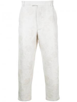 Укороченные брюки Matthew Miller. Цвет: телесный