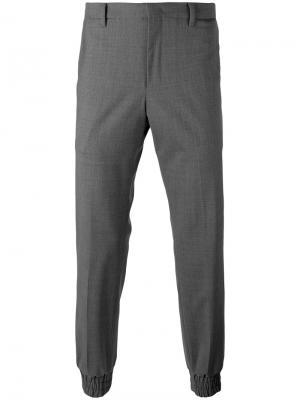 Строгие брюки Wooyoungmi. Цвет: серый
