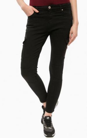 Черные хлопковые брюки ALCOTT. Цвет: черный