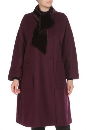 Свободное пальто с застежкой на пуговицы Cyrille Gassiline. Цвет: фиолетовый