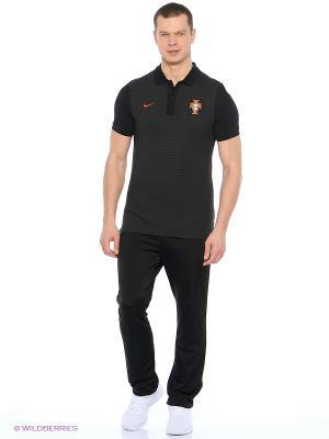 Футболка-поло FPF AUTH GS SLIM POLO Nike. Цвет: черный